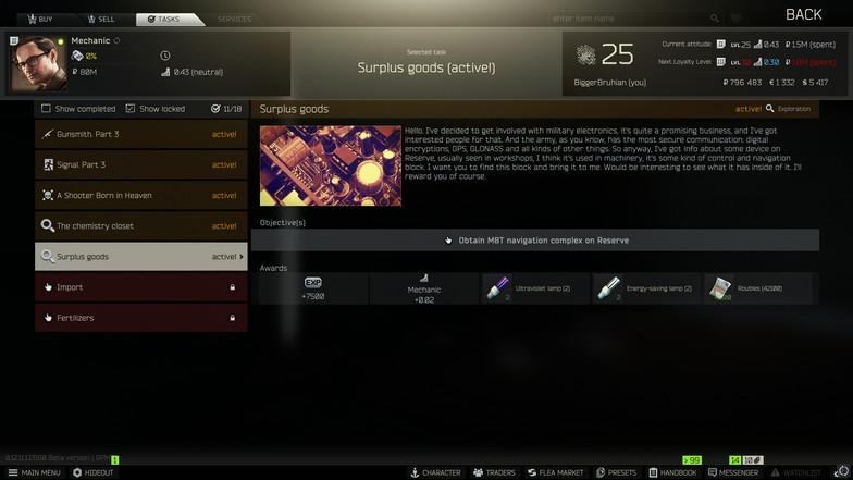 Surplus Goods Quest from Mechanic