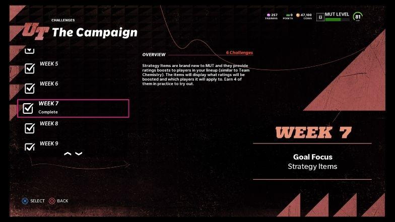 Campaign challenge - strategy items reward