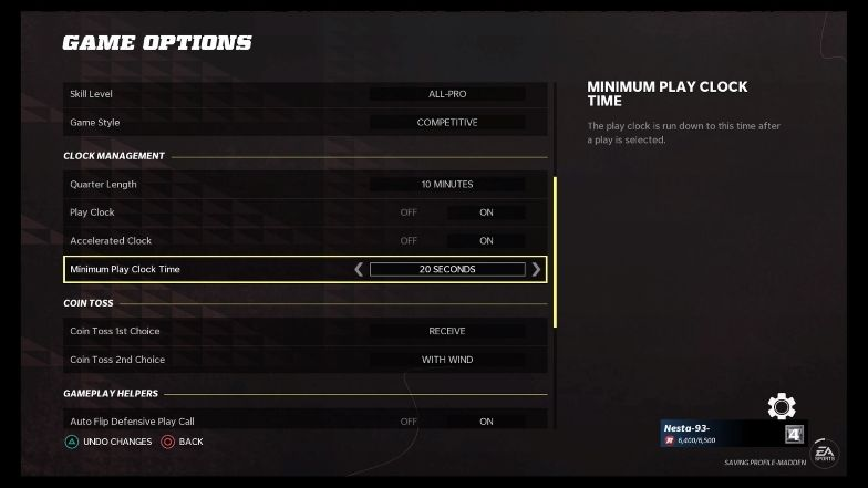 Realistic game sliders - game options