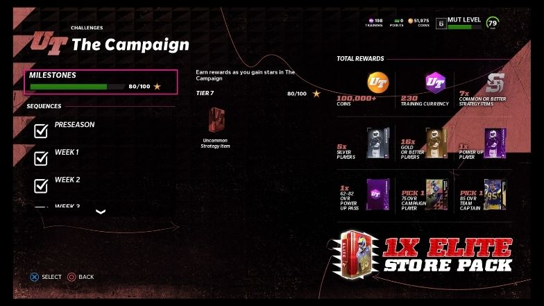 MUT The Campaign Challenge