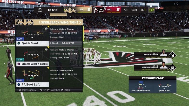 Madden 22 Ultimate Team Saints Playbook