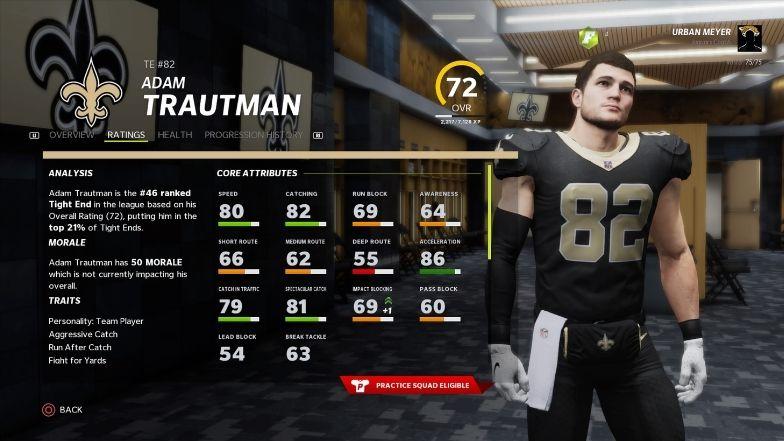 Best sleeper players: Adam Trautman rating