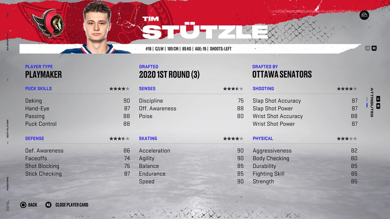 Best young players NHL 22 Franchise Mode