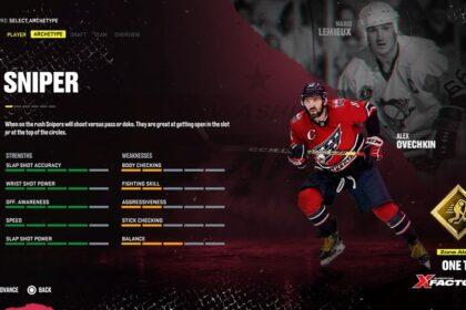 Player archetype NHL 22