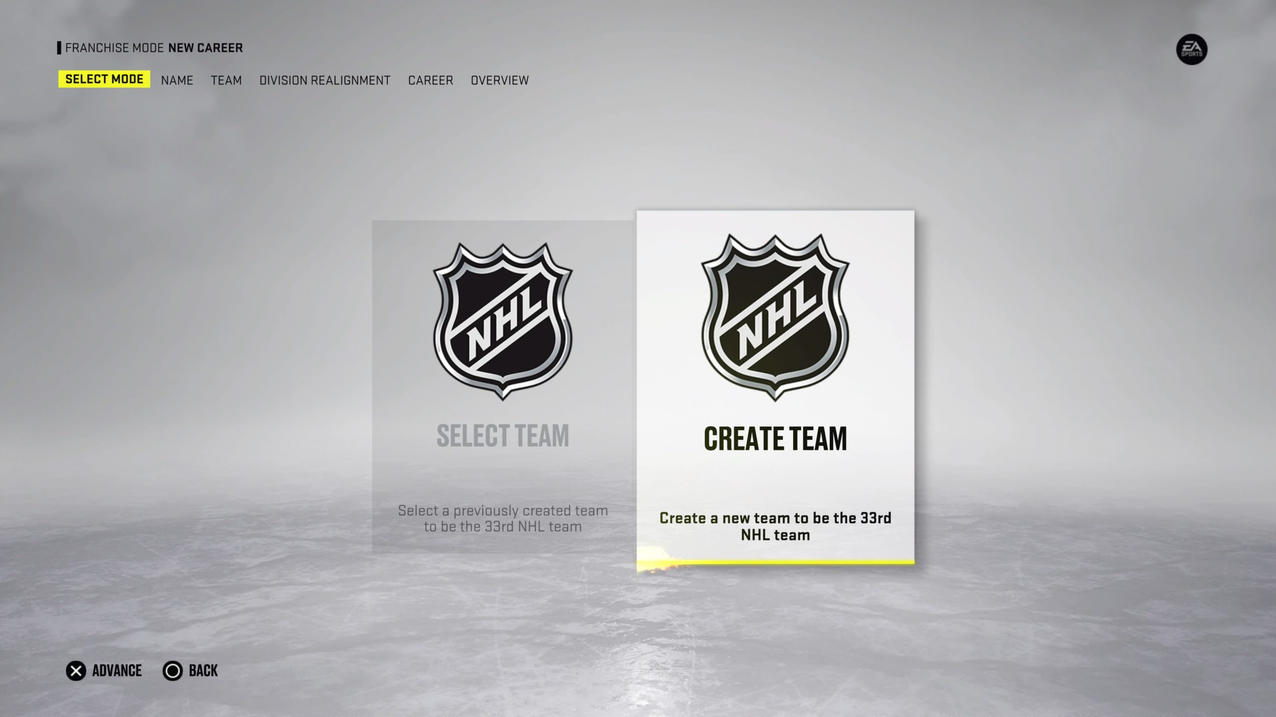 NHL 22 Franchise Custom Team