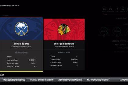 NHL 22 Free agent